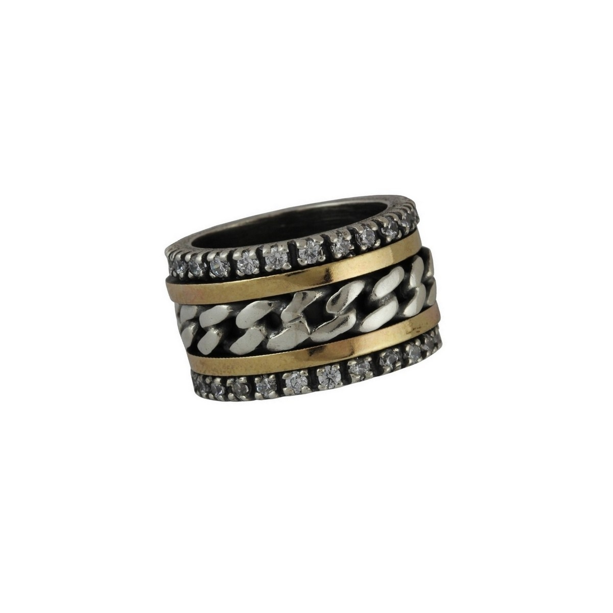 2f6d64235a0a8 Anel de Prata e Ouro - Comprar Anel de Prata e Ouro em Prata.pt